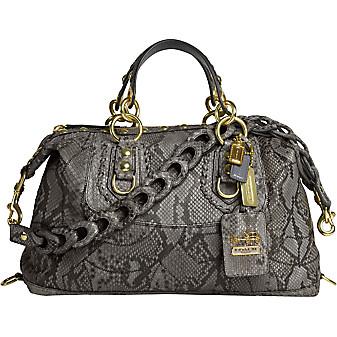 Grey Python Bag