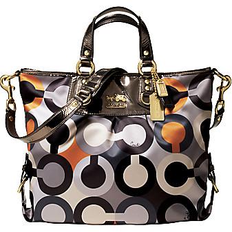 Grey Op-Art Bag